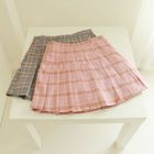 Plaid Mini Skirt Gray - M от YesStyle.com INT
