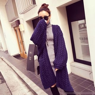 Ribbed Long Cardigan 1053938263