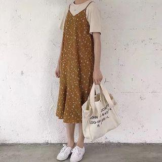 Strappy Floral Midi Dress 1057454440