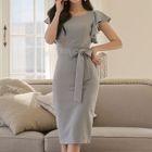 Sleeveless Tie-Waist Dress 1596