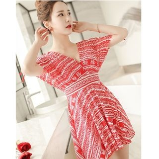 Patterned Swim Dress 1056928461