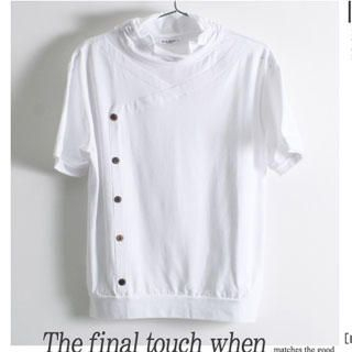 Picture of SERUSH Button Front Short-Sleeve Tee 1022544734 (SERUSH, Mens Tees, Taiwan)