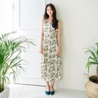Sleeveless Floral Pattern Maxi Dress 1596