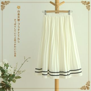 Image of Accordion Midi Skirt