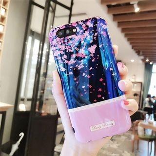 Flower Print Phone Case - iPhone 6 / 6S / 6 Plus / 7 / 7 Plus / 8 / 8 Plus / X 1063739924