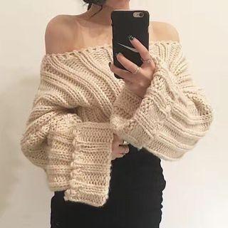 Ribbed Long-Sleeve Knit Top 1063892483