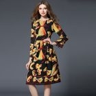 Print Bell-Sleeve Dress 1596