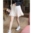Ruffle Hem A-Line Skirt 1596