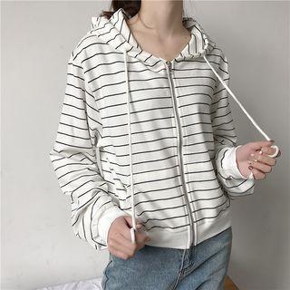 Striped Zip Hoodie 1065442986