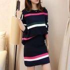 Set : Stripe Knit Top + Skirt 1596