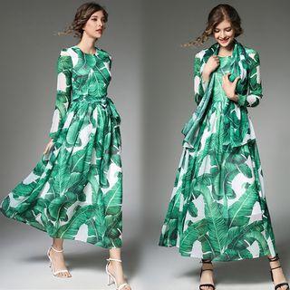 Long-Sleeve Tie-Waist Dress 1061365364