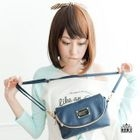 Faux-Leather Crossbody Bag Blue - One Size
