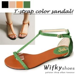 Picture of Wifky T-Strap Thong Sandals 1023005114 (Sandals, Wifky Shoes, Korea Shoes, Womens Shoes, Womens Sandals)