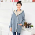 Hooded Knit Cardigan 1596