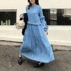 Frilled Trim Maxi Dress 1596