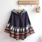 Hooded Printed Cape 1596