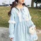 Lace Trim Long-Sleeve Dress 1596