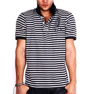 Buy Paul & Reed Printed Striped Polo Shirt 1022845346