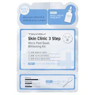 Tony Moly - Skin Clinic 3 Step Micro Peel Swab: Mask 1sheet x 21ml + Serum 1ml + BHA Peeling Swab 1pc x 1.5ml Wrinkle Kit 1054855174