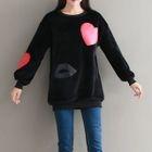 Heart Applique Pullover Dress 1596