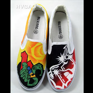 Picture of HVBAO Graffiti World Slip-Ons 1020469132 (Slip-On Shoes, HVBAO Shoes, Taiwan Shoes, Womens Shoes, Womens Slip-On Shoes)