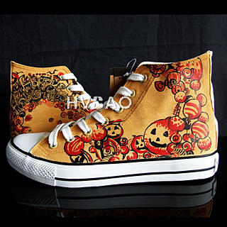 "Buy HVBAO ""Halloween Pumpkins"" High-Top Sneakers 1012358013"