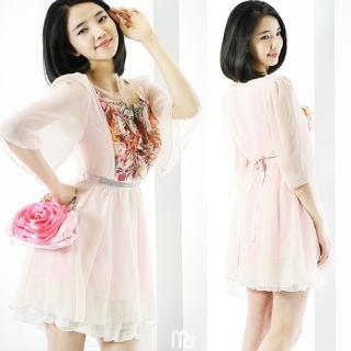 Buy ELISHA Frill-Front Chiffon Dress 1022900177