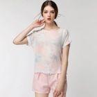 Set: Print Short-Sleeve Top + Shorts 1596