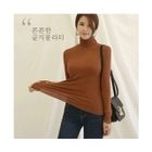Turtle-Neck Ribbed Top 1596