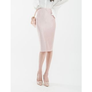 Band-Waist Ribbed Skirt 1058252928