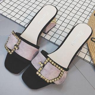 Block Heel Slide Sandals 1060961287