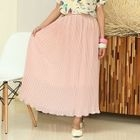 Accordion Pleated Maxi Chiffon Skirt 1596