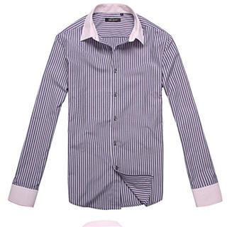 Purple+pinstripe+shirt