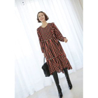 Check Frilled Dress 1596