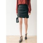 Slit-Hem Mini Pencil Skirt 1596
