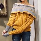 Ribbed Off-shoulder Long-Sleeve Top 1596