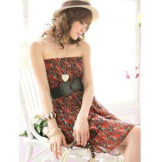 Buy Tokyo Fashion Strapless Floral Chiffon Dress 1022763770