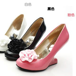 Buy KAWO Detachable Corsage Wedge Pumps 1022760213