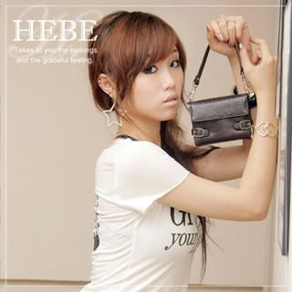 Picture of Hebe Faux Python Wallet with Strap 1020431975 (Hebe, Wallets, Taiwan Bags, Womens Bags, Womens Wallets)