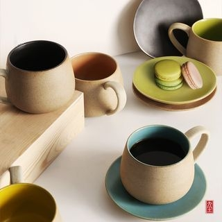 Ceramic Coffee Cup with Saucer 1061387846