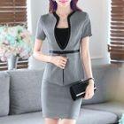 Set: Short-Sleeve Jacket + Pencil Skirt 1596