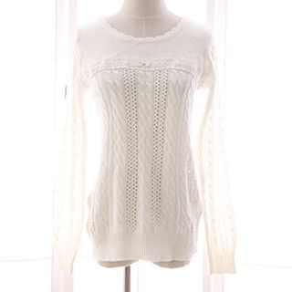 Lace Panel Knit Top 1052760493