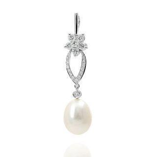 18K White Gold Diamond Pendant picture
