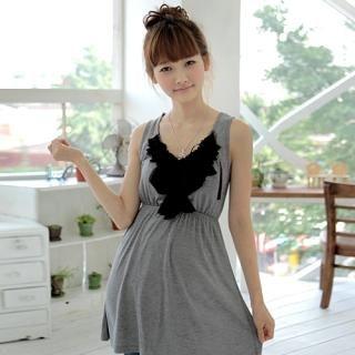 Picture of CLICK Appliqu -Detail Sleeveless Dress 1022990457 (CLICK Dresses, Womens Dresses, South Korea Dresses, Sleeveless Dresses)