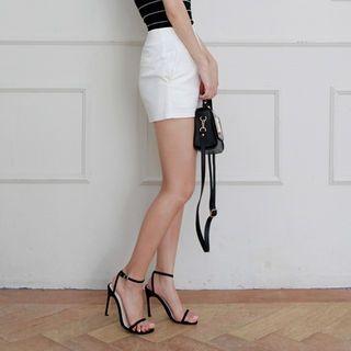 Flat-Front Cotton Shorts 1060644176