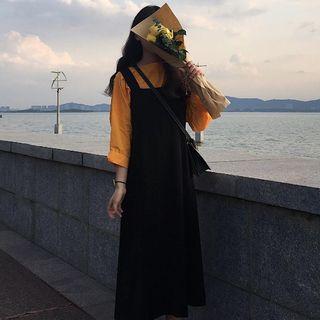 Image of 3/4-Sleeve T-Shirt / Midi Jumper Dress