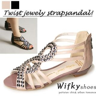 Picture of Wifky Beaded Strap Sandals 1022915835 (Sandals, Wifky Shoes, Korea Shoes, Womens Shoes, Womens Sandals)
