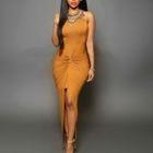 Sleeveless Slit-Front Maxi Dress 1596