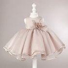 Kids Flower Accent Sleeveless Dress 1596