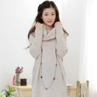 Picture of CLICK Cowl Neck Sweater Dress 1021624418 (CLICK Dresses, Womens Dresses, South Korea Dresses, Sweater Dresses)